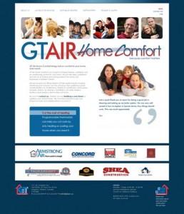 screenshot GT Air Home Comfort website